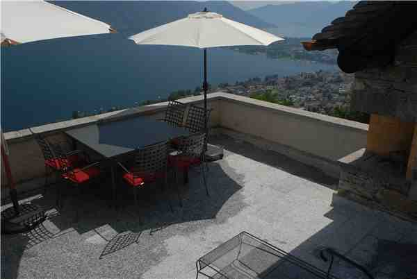 Holiday apartment Turmhaus, Brione s/Minusio, Lake Maggiore (CH), Ticino, Switzerland, picture 1