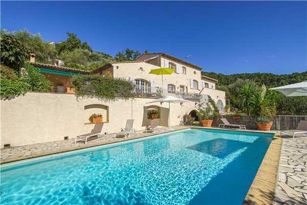 Ferienhaus Exclusive Villa mit Pool und Blick im Hinterland von Cannes, Cabris, Côte d'Azur, Provence - Alpen - Côte d'Azur, Frankreich, Bild 2