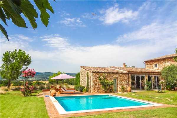 Ferienwohnung 'Provenzalisches Ferienhaus mit Pool für 2-3 Personen in Roussillon' im Ort Roussillon