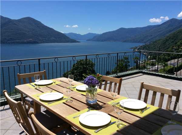 Ferienwohnung 'Attico Vista Lago' im Ort Ronco sopra Ascona